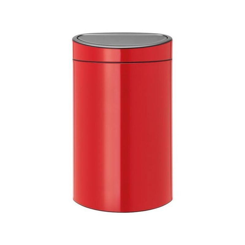 brabantia poubelle 40 l rouge touch bin j 39 quipe ma maison. Black Bedroom Furniture Sets. Home Design Ideas