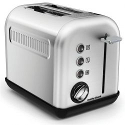 MORPHY RICHARDS TOASTER 2TRANCHES 7 POSITIONS ACCENT REFRESH INOX