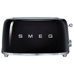 SMEG Grille-pain 4 tranches Années 50 noir
