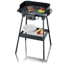 SEVERIN BARBECUE GRIL SUR PIEDS 2500W TH PARE VENT CORPS EMAILLE 41X26CM