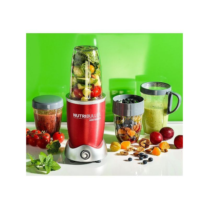 nutribullet extracteur de nutriments rouge nutribullet 600 w kit accessoires extracteur de. Black Bedroom Furniture Sets. Home Design Ideas
