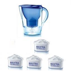 BRITA CARAFE MARELLA 4 MOIS MAXTRA+ BLEUE