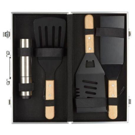 Valise plancha ustensiles pour plancha spatules spray - Cuisine a la plancha ...