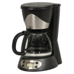 KITCHENCHEF CAFETIERE 6T 550W 0,6L NOIR