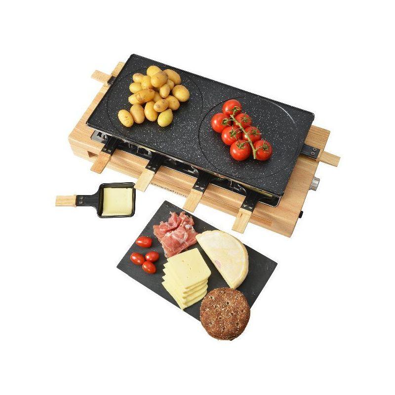 Kitchenchef Appareil à raclette grill & crêpes bois 8 personnes - kcwood8maxi