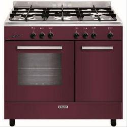 cuisiniere butanette 90 cm rouge GLEM GA960PCGBR