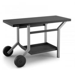 FORGE ADOUR Table roulante acier noir et gris clair mat