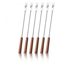 BOSKA Lot de 6 fourchettes à fondue - Mahonie