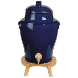FINDIS EBJ Vinaigrier 4 L Bleu Provence sur tabouret