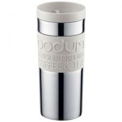 BODUM Mug 0.35 L double paroi Inox & Blanc - Travel Mug