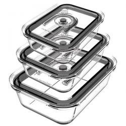 RIVIERA & BAR Kit de 3 boîtes de conservation sous-vide - PSV970