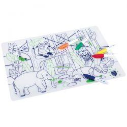 SUPERPETIT Jungle Animal - Set silicone à colorier