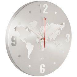 LE STUDIO Horloge Monde Silver