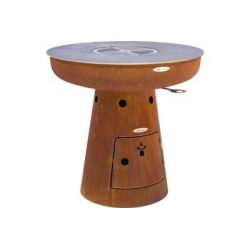 REMUNDI - Plancha brasero NERO L105 - 800702