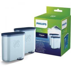PHILIPS Pack de 2 Filtres à eau et à calcaire - AquaClean - CA6903.22