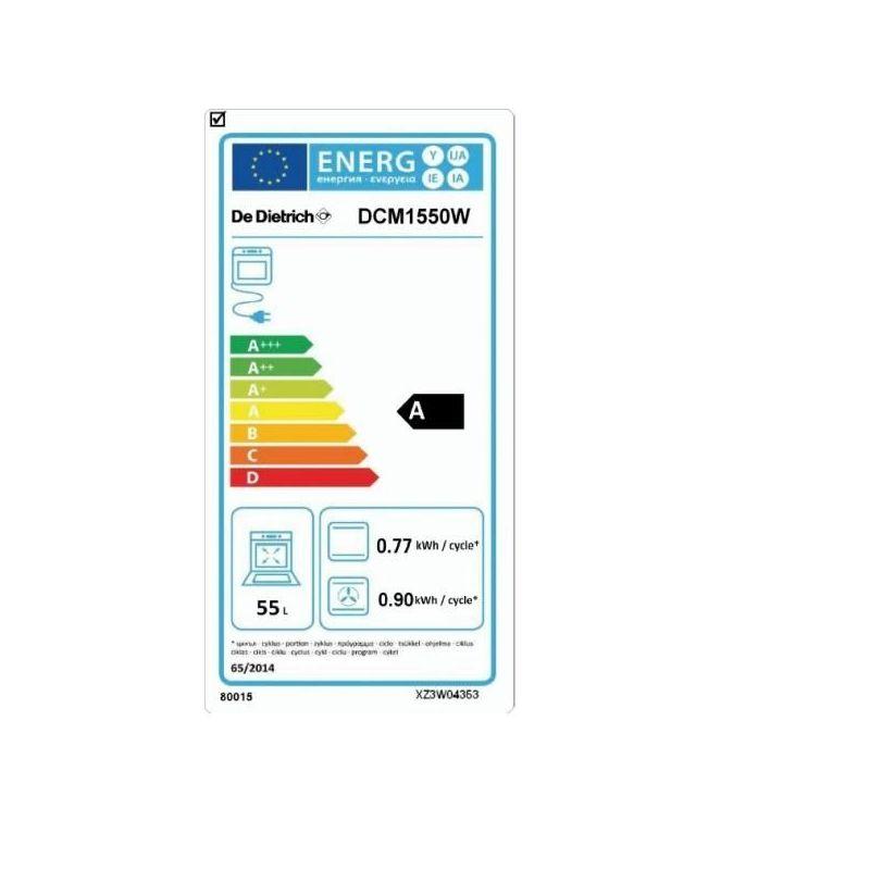 cuisiniere de dietrich dcm1550w vitroceramique gaz. Black Bedroom Furniture Sets. Home Design Ideas