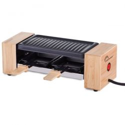 LITTLE BALANCE Raclette / Grill 2 personnes Bambou & Inox - 8387