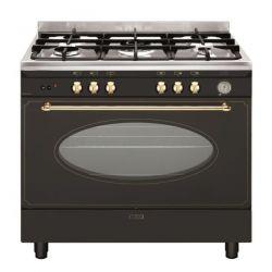 piano de cuisson gaz rustique 90 cm noir GLEM GU960CMR2