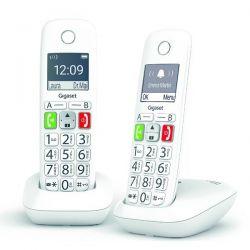 GIGASET Téléphone sans fil DECT x2 avec répondeur E290ADUO