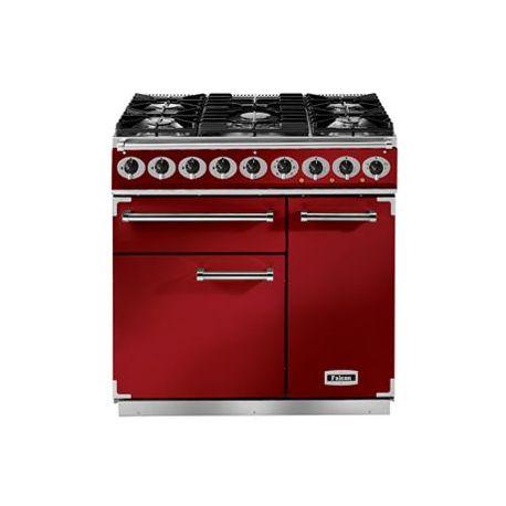 Cuisinière mixte FALCON DELUXE 900 rouge cerise
