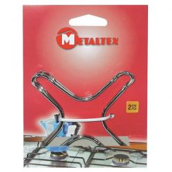 METALTEX Lot de 2 supports bain marie chromés