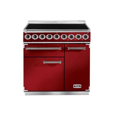 Cuisinière Induction FALCON DELUXE 900 rouge cerise