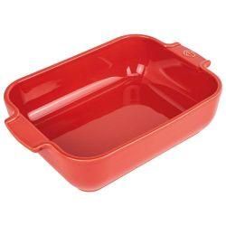 PEUGEOT Plat à four rectangle 25 cm Rouge - Appolia