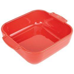 PEUGEOT Plat à four carré 21 cm Rouge - Appolia