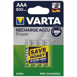 VARTA Accus HR03/AAA ready 2use 800mAh blister de 4