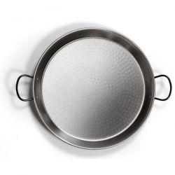 LA VALENCIANA Plat à paëlla profond 50 cm en acier poli
