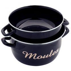 BAUMALU Marmite à moules 24 cm Noire