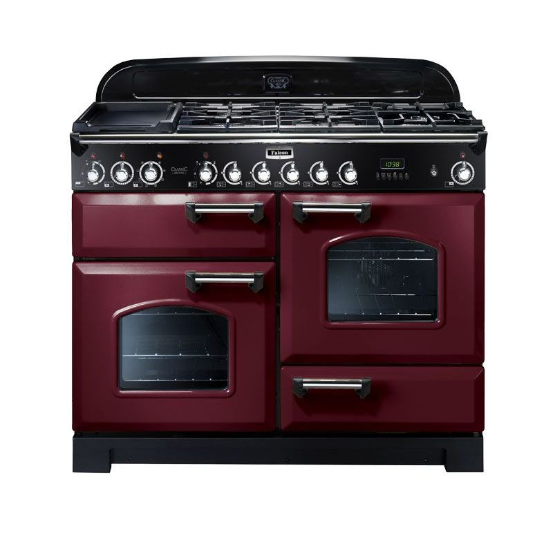 cuisini re falcon classic deluxe 110 vitroc ramique rouge. Black Bedroom Furniture Sets. Home Design Ideas